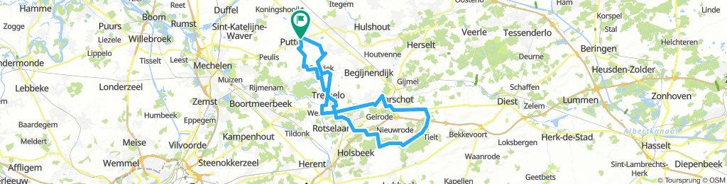 Wim Peeters - 70 km - Aarschot Rillaar - plat