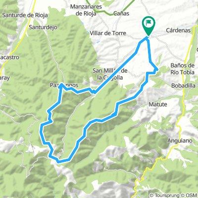 Badarán a San Millán de la Cogolla por Sierra Pradilla