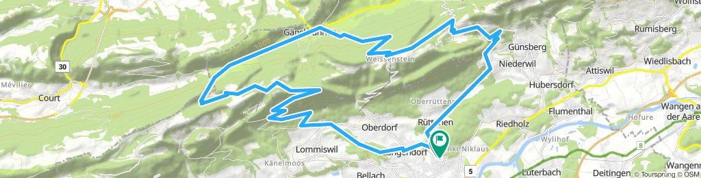 Solothurn - Althüsli - Binzberg - Weissenstein - Balmberg - Solothurn