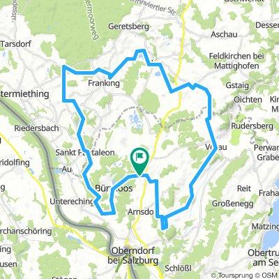 55 km Lieblings Route mit wildromantischen Wegen und Seen mit Bachdurchfahrt