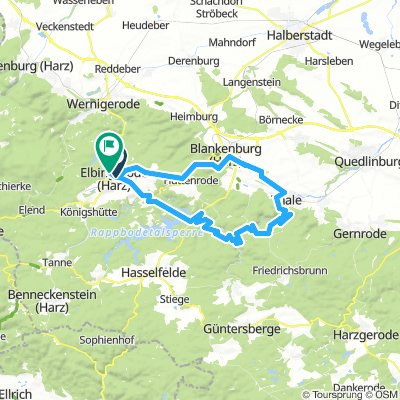 Elbingerode-Blankenburg Teufelsmauer-Thale Rappbodetalsperre