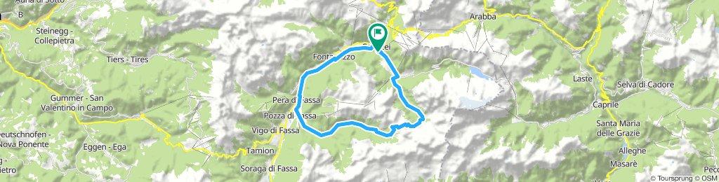 Canazei Pass St. Nicolo 31 km 1000 hm