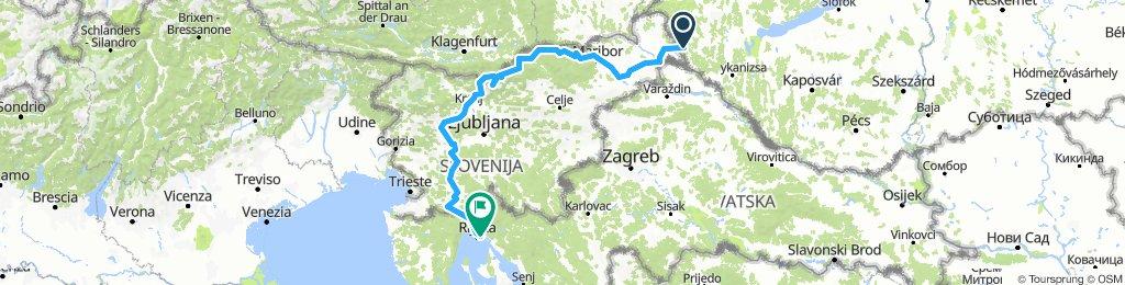 Szlovénia _ Horvátország %17 km 6100 szint