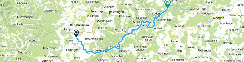 2.Tag Donaueschingen nach Beuron 73 km
