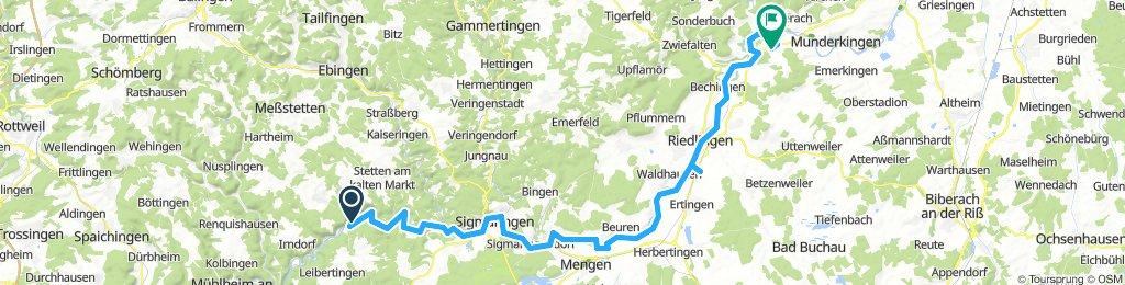 3.Tag Beuron nach Obermarchtal 75 km