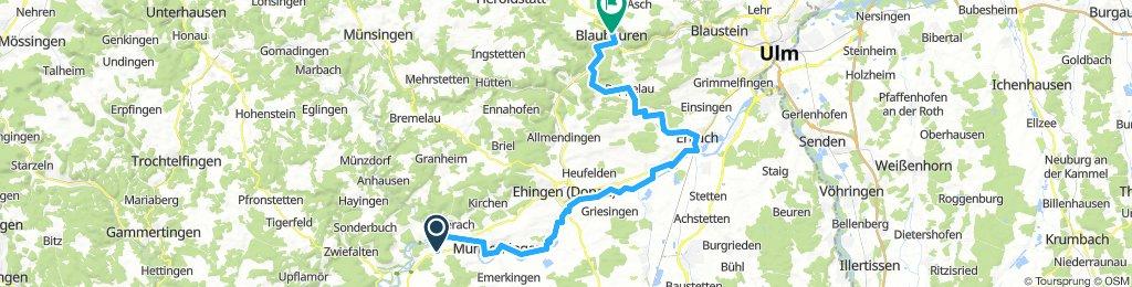 4.Tag Obermarchtal nach Blaubeuern 59 km