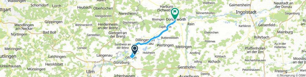 6.Tag Gundremmingen nach Donauwörth 42 km