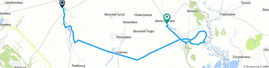 Чорнобай - В.Бурімка-Грушки-М.Бурімка(48.2km)