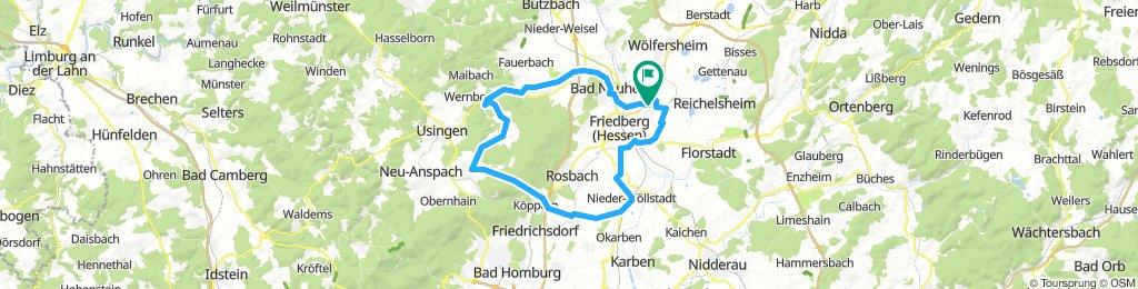 Dorheim - Wehrheim - Rosbach zurück
