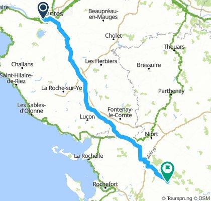 Nantes-La Dornac ride#1