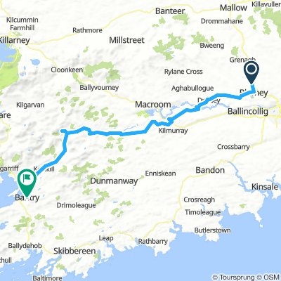 Blarney Ireland Map.Cycling Routes And Bike Maps In And Around Blarney Bikemap Your