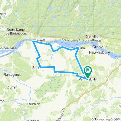 Vankleek-Hill , boucle 63 kms
