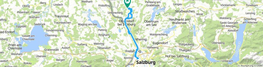 60 km Lamprechtshausen bis Taxham über Bayern und retour