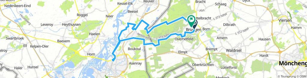 Brüggen - Roermond - Asselt - Brüggen