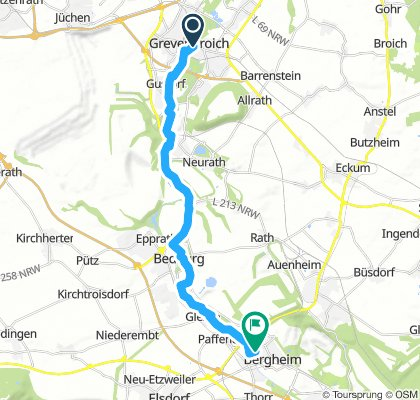 Grevenbroich - Bedburg - Bergheim - Retour 50km