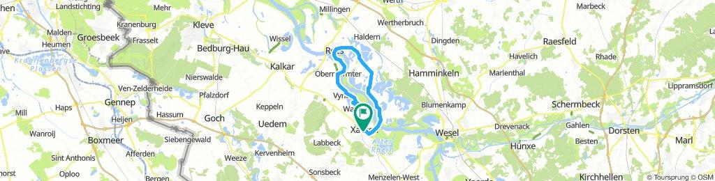 Xanten - Wardt - Rees - Mehr - Bislich - Xanten