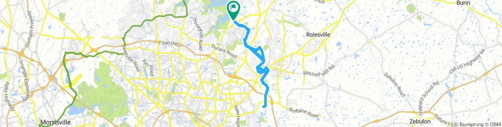 Easy Monday Route In Raleigh