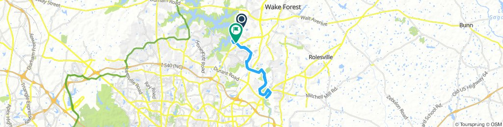 Lengthy Early Morning Route In Wake Forest
