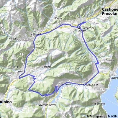 Tour Onore - Ranzanico - Leffe - Onore