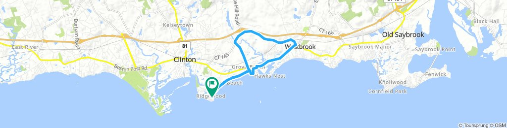ride from Clinton to Old Saybrook