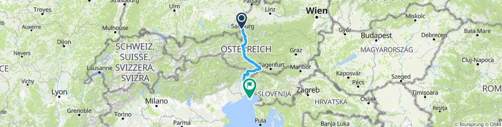 Salzburg nach Grado