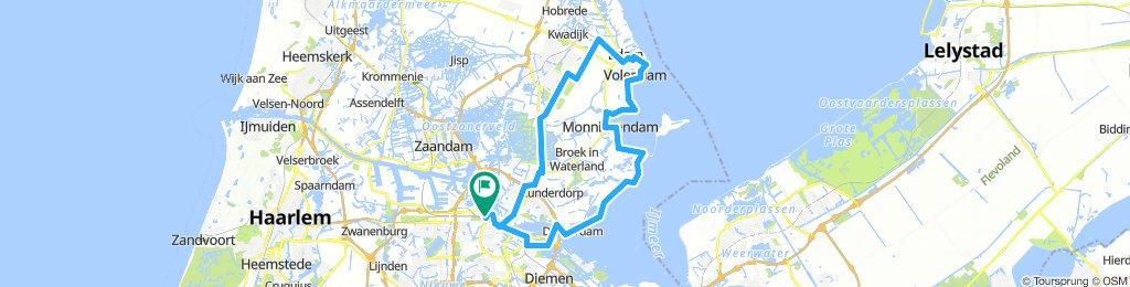 Houthavens - Monnickendam - Volendam - Edam - Watergang -