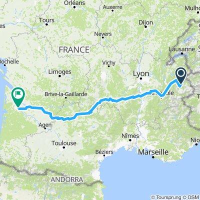Zuid Frankrijk route Juli 2018