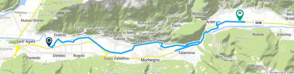 con MG in Valtellina - andata