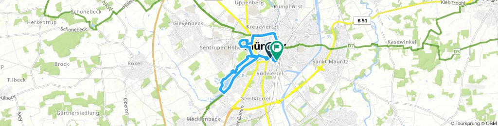 Long Sonntag Route In Münster