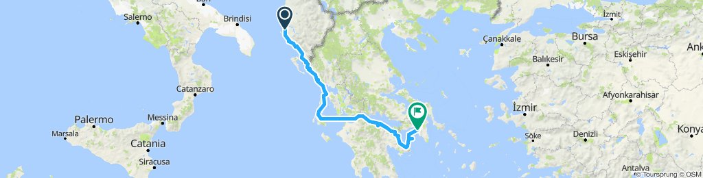 Vlore to Athens