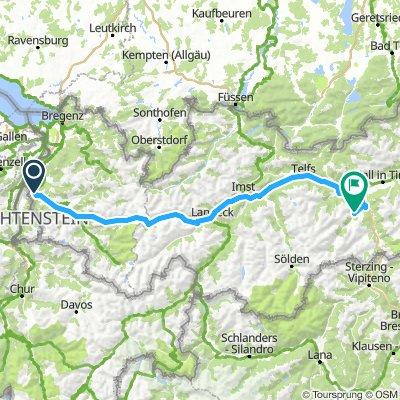2.Etappe Feldkirch - Fulpmes/Telfes