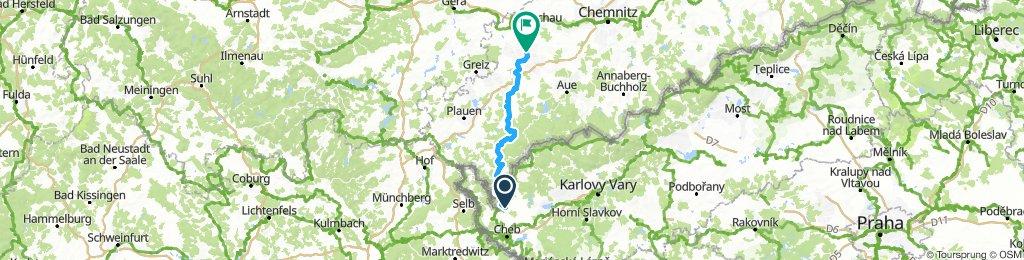 Německo 2018: Skalná - Zwickau (Den 1.)