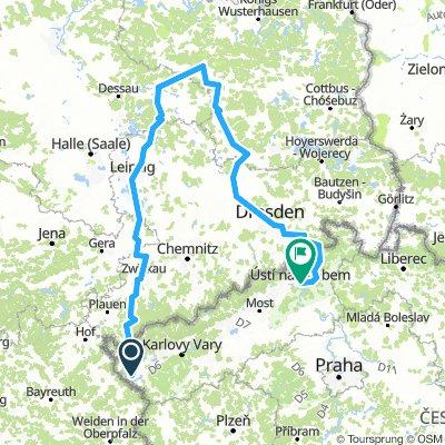 Německo 2018 (celá trasa): Cheb - Zwickau - Leipzig - Beelitz - Dresden - Ústí nad Labem