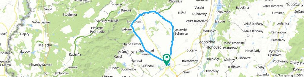 Trnava - Trstín - Naháč