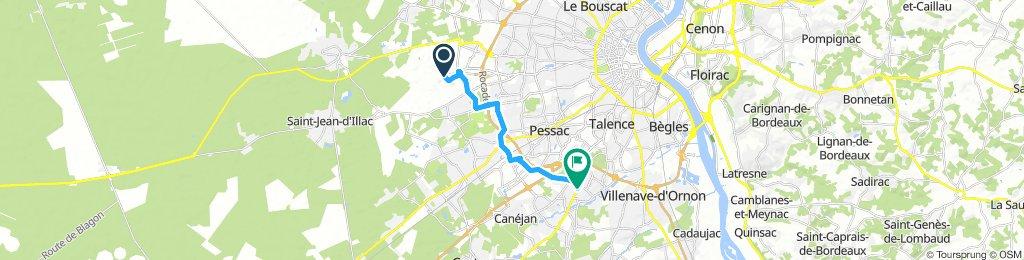 Vom Flughafen Bordeaux zum Camping