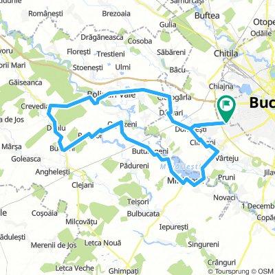 Prel. Ghencea - Domnesti - Baraj Mihaileti - Ogrezeni - Bucsani - Crevedia Mare - Bolintin Vale - Ciorogarla - Darvari - Domnesti - Prel. Ghencea