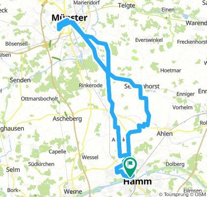 Hamm - Münster - Aasee -Albersloh - Hamm