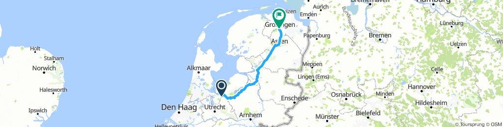 Breng Jeroen naar Groningen route