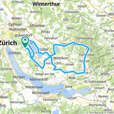 Pfäffikon-Bauma 92.8km 1000HM