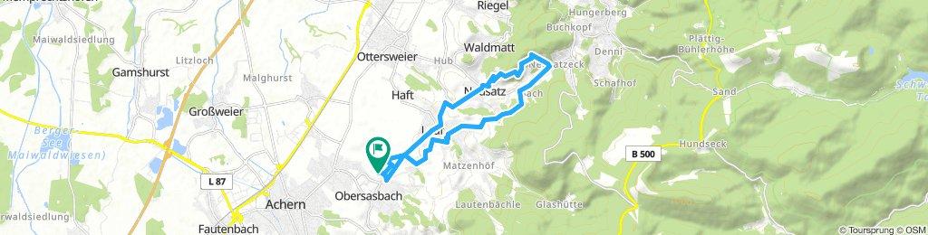 Sasbach 2 Erlenbad KlosterNeusatzeck und zurück