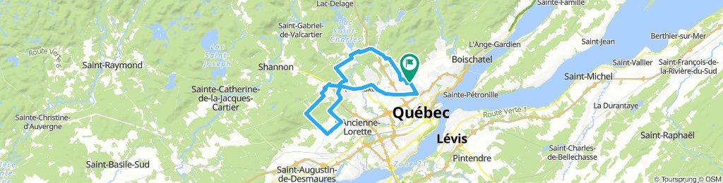Tour JeanGauvin via Charlesbourg