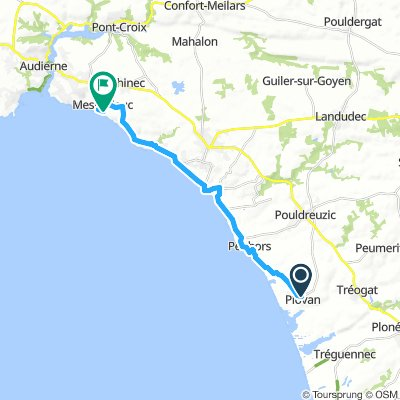 Plovan-Mesperleuc (en terug) 34km