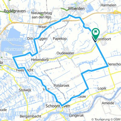 Rondje Montfoort-Hogebrug 50km