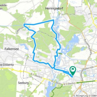 Mauerweg Spandau Route