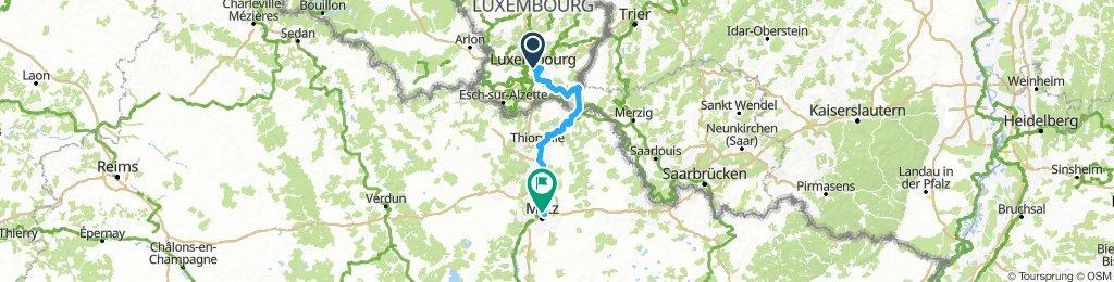 Luxemburg to Metz