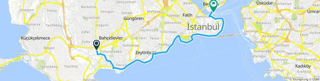 Slow Evening Route In Bakırköy