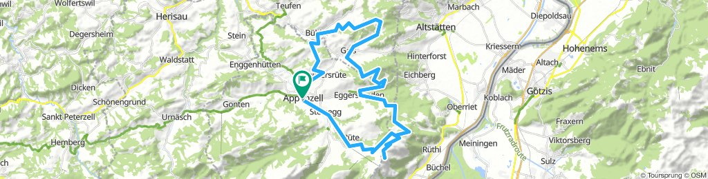 Appenzell, Brülisau, Kamor, Eggerstanden, Hirschberg, Gais, Gäbris, Bühler, Appenzell