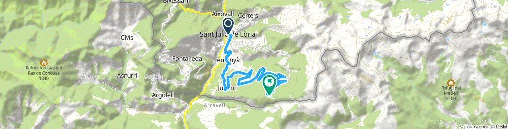 Andorra. Road cycling Sant Julià de Lòria  - La Rabassa