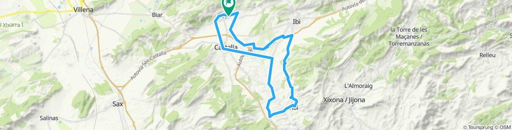 Onil,cruce de Sax, Castalla,tibi,Onil
