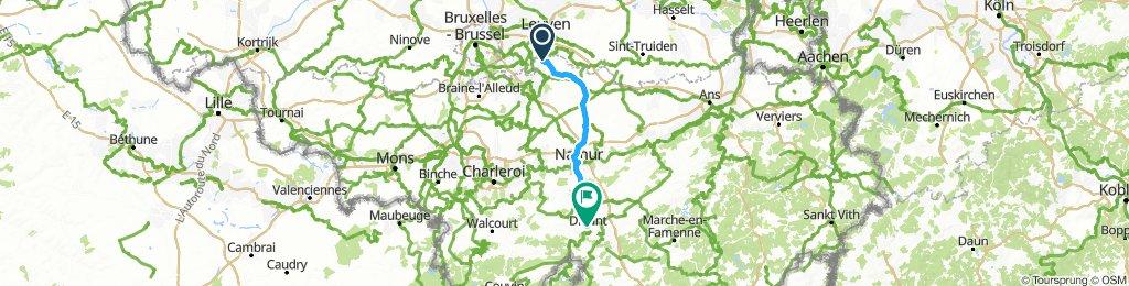 Tiel naar Dinant   Etappe 3